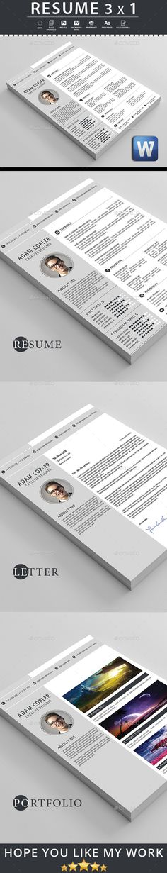 Resume — Photoshop PSD #clean cv #light • Available here → https://graphicriver.net/item/resume-/16698529?ref=pxcr