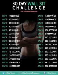 Wall-sit challenge.