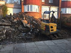 Driveway dig out in North London Landscaping Work, North London, Firewood, Garden Design, Landscape, Pictures, Photos, Woodburning, Scenery