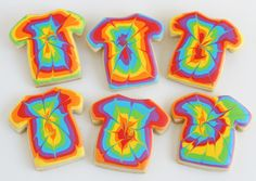 Tie Dye Shirt Cookies How To- A must make for any tie dye party don't you agree?!