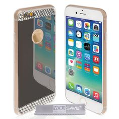 Yousave Accessories iPhone 6 and 6s Mirror Diamond Case - Grey | Mobile Madhouse