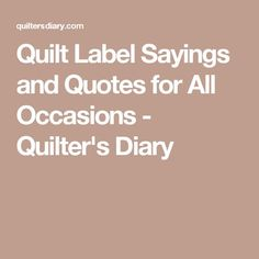 Free Printable Quilt Labels Add Some Information They