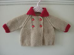 retro style baby coat ~ at this time unknown if there is a pattern ..... so important that an original pinner adds in the pertinent details!