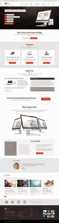iDea Clean and Powerful Multipurpose Bootstrap Template #HTML5