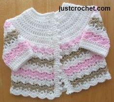 Free baby crochet pattern pretty baby coat uk