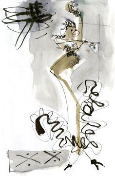 Urban Sketchers: Exit Dancing (by Melanie Reim)