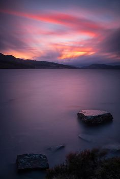 An Evening Glow On Loch Duntelchaig, near Inverness in the Scottish Highlands