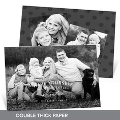 Why not make your card all black and white? Create your own vintage greeting on this premium Christmas card featuring double thick paper and three photos! #holiday #ChristmasCards #PremiumCards