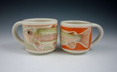 THIS MONTH'S FEATURE - Good Earth Pottery, Madie Klusmire, Trout Mugs