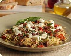 Fresh Tomato Basil Pasta | Laura's Lean Beef