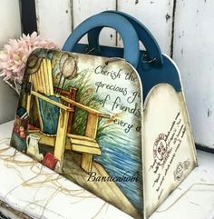 banuca Decoupage Letters, Decoupage Box, Vintage Country, Vintage Wood, Decoupage Suitcase, Shabby Boxes, Altered Cigar Boxes, Wood Creations, Love Craft