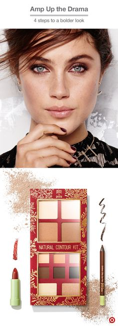 Go from day to night in no time. With one palette, the Pixi Natural Contour Kit gives you two totally different looks. Sun still out? Show your natural glow with thelighter shades on your lids and just a kiss of bronzer. Heading out later to paint the town red? You're already halfway there. Elevate the drama by adding darker shadows in the crease, line with the Endless Silky Eye Pen, and finish with a pop of lip color. Hello, new all-time fave.