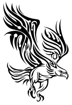 Black Tribal Bird Temporary Body Art Tattoos x * Awesome thrift product. Click the image : Beauty products 99 cent Tribal Tattoos, Tribal Eagle Tattoo, Tribal Drawings, Eagle Tattoos, Tattoo Drawings, Body Art Tattoos, Wing Tattoos, Celtic Tattoos, Sleeve Tattoos