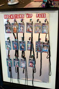 VIP passes would be great at a rock star or karaoke party! Karaoke Party, Dance Party Birthday, Birthday Party Themes, Birthday Invitations, Third Birthday, Music Birthday Themes, Music Theme Parties, 13th Birthday, Dance Party Themes