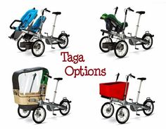 #Taga #bike (stroller and bike) versions. Read more at: http://impressivemagazine.com/2013/08/20/taga-bike-stroller-and-child-carrier-bike/