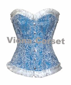 444603fc9f Authentic Steel Boned over bust Corset made with intricate brocade design.  The sweet heart over