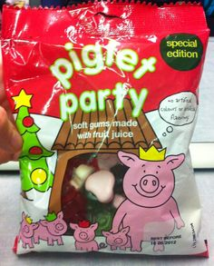 The one and only festive special edition Piglet Party #sweets #percypig