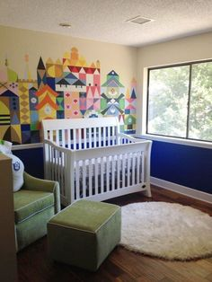 5 Classic Disney Nurseries. Anyone want to paint the small world mural for me? Love it.