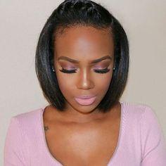 So pretty! @tamiastyles | #thecutlife #shorthair #boblife #makeup #beauty…
