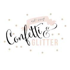 Premade Confetti and Glitter Chic Logo.