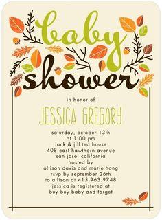 Sweet Autumn: Fern - Baby Shower Invitations in Fern | Magnolia Press