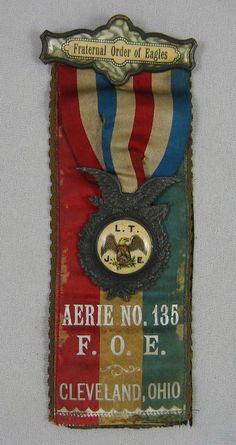 Fraternal Order of Eagles Aerie No 135 F O E Cleveland Ohio Ribbon in Memoriam   eBay