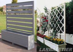 Jardini re avec brise vue palettes pinterest for Jardiniere exterieure en aluminium