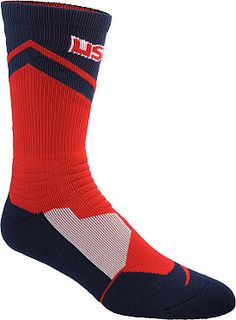 Play hard from tip-off to the final buzzer in these NIKE® Hyper Elite USA crew basketball socks.