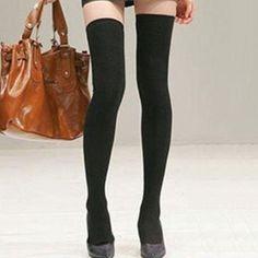 thigh highs| $3.80  gyaru otome kei nu goth pastel goth runge fachin thigh highs socks accessories stockings under10 under20 under30 sammydress