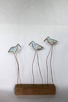 Epistyle: Recap More Sculptures Sur Fil, Wire Art Sculpture, Wire Sculptures, Abstract Sculpture, Bronze Sculpture, Copper Wire Art, Art Fil, Driftwood Art, Wooden Art