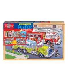 Emergency Vehicles Puzzle Set by T.S. Shure #zulily #zulilyfinds