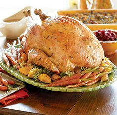 Juicy Roast Turkey - this is part of A Fast and Easy Thansgiving Dinner menu from Fine Cooking