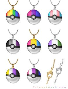 Pokemon LGBT Pride pokeballs in gold and sterling silver Ace Pride, Pride Outfit, Pansexual Pride, Gay Aesthetic, Lgbt Love, Mein Style, Lgbt Community, Look Cool, Transgender
