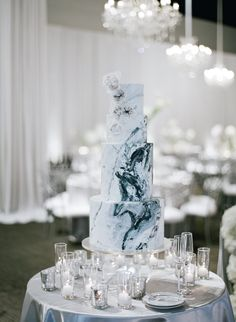 Our Favorite Winter Wedding Cakes – winter wedding cakes kevin chin – – wallpaper winter Floral Wedding Cakes, White Wedding Cakes, Elegant Wedding Cakes, Wedding Cake Designs, Elegant Winter Wedding, Floral Cake, Elegant Cakes, Winter Weddings, Purple Wedding