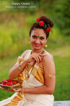Another Onam is here ! Wishing all a very happy Onam. Beautiful Girl Image, Beautiful Asian Girls, Onam Images, Onam Pictures, Onam Wishes In Malayalam, Happy Onam Wishes, Onam Celebration, Latest Bridal Mehndi Designs, Onam Festival