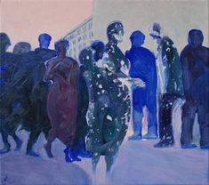 Original People Painting by Wojtek Herman Oil On Canvas, Canvas Art, Original Art, Original Paintings, Art Oil, Buy Art, Modern Art, Saatchi Art, The Originals