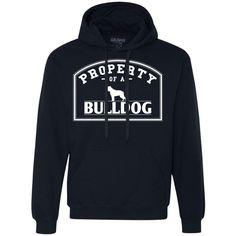 Bulldog - Property Of A Bulldog - Heavyweight Pullover Fleece Sweatshirt