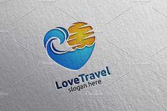 Travel and Tourism Logo, hotel,beach by denayunebgt on @creativemarket