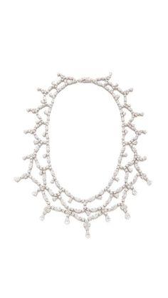 Kenneth Jay Lane Draped Collar CZ Necklace
