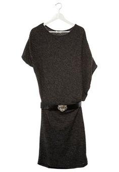 Strikket kjole - sort