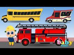 learn street vehicles street vehicles for children car videos for kids youtube