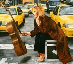 Johanne Cullen - Taxi, oil on canvas, 60x68