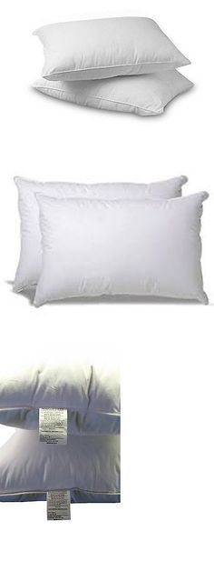 Bed Pillows 20445: Premium 100% White Goose Down Firm Pillow, Set Of 2 (Queen) -> BUY IT NOW ONLY: $138.23 on eBay!