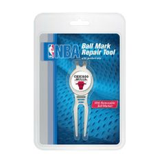Chicago Bulls Cool Tool Clamshell Pack by WinCraft. $18.99. Full color team logo removable Ball Marker. Strong Rare Earth Magnet secures Ball Marker to tool. Sleek ergonomic design for optimal use. Pocket/belt clip on back of tool for easy access while on the green, or for use as club rest. Divot tools are fundamental for the game of golf and make a great gift for the golfer in your life! Show your team spirit with our team Ball Markers. The Cool Tool is a metal 2-pron...