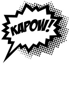 "COMIC POW! Speech Bubble, Comic Book Explosion, Cartoon"" Stickers ..."