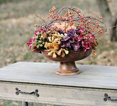 Photography: Art of Love - artoflove.com Flowers + Design: Beautiful Blooms - www.beautifulblooms.com  Read More: http://www.stylemepretty.com/2010/10/29/wedding-flowers-with-a-halloween-twist/