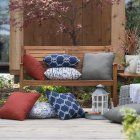 Coral Coast Nautical 18 in. Square Outdoor Toss Pillow