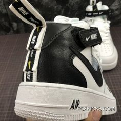 Nike Air Force One Mid Utility Mid Top Casual Sneaker Size Online Casual Boots, Casual Sneakers, Sneakers Nike, Nike Kicks, Hype Shoes, Women's Shoes, Nike Air Force Ones, Air Jordan Shoes, Slippers