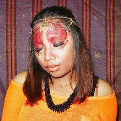 Fire element inspired makeup look tutorial