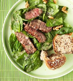 Steak Salad with Lemon-Walnut Vinaigrette